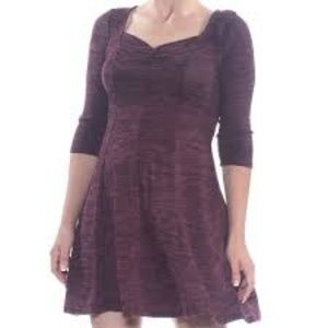 Bebop Purple Heather 3/4 Sleeve Dress
